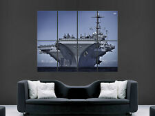 US Navy navire porte-avions géant de guerre mur Poster Art Photo Impression Grand énorme
