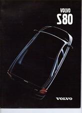 VOLVO S80 SALES BROCHURE DECEMBER 1999 FOR 2000 MODEL YEAR
