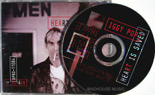 IGGY POP CD Heart Is Saved USA PROMO w/ Back PIC SLEEVE Unplayed