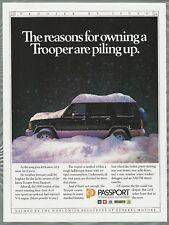 1990 ISUZU TROOPER  advertisement, Canadian advert snow-covered
