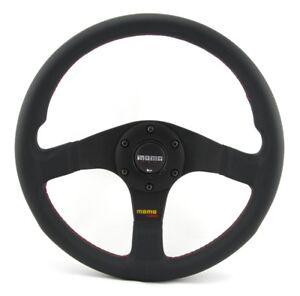 Momo Leather Sports Steering Wheel Tuner 32 320mm Black Volante