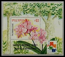123.PHILIPPINES 2001  STAMP M/S FLOWERS . MNH