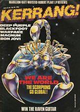 1985 June Kerrang! #96 - Vintage Music Magazine - Scorpions, Deep Purple