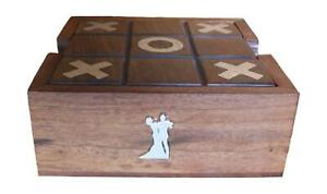 Ballroom Wooden Tic Tac Toe Solitaire Game FREE ENGRAVING 540