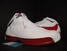 2003 OG NIKE AIR JORDAN XVIII 18 WHITE VARSITY RED BLACK 305869-161 NEW 11