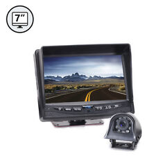 "Trailer Blind Spot Backup Camera System 7"" TFT LCD Screen 120° View Weatherproof"