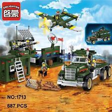 Enlighten Military Army Mobile Combat Vehicle Plane Figure Building Block Toy