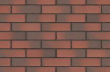 Strangpress Klinker-Riemchen NF-Format rot gedämpft Riemchen Verblender
