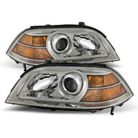 Fit Acura 04-06 MDX Chrome Housing Replacement Headlights Lamp Pair Base Touring