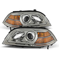 Acura 04-06 MDX Chrome Housing Replacement Headlights Lamp Pair Base Touring