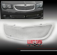 04-08 CHRYSLER CROSSFIRE FRONT UPPER STAINLESS STEEL MESH GRILLE INSERT CHROME