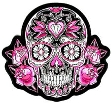 20  WATER SLIDE NAIL  DECALS TRANSFERS PINK BLACK WHITE SUGAR SKULL   3/8 INCH