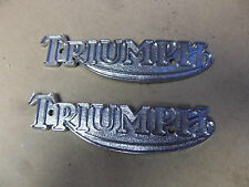 TRIUMPH PRE UNIT 3T 5T 6T T20 T100 T120 CHROME TANK BADGE (PR) - 82-1823