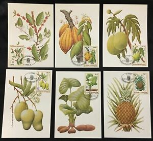 ST THOMAS E PRINCIPE 1981 Fruit Maxi FDC Cards x 6(D26