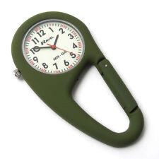 Ravel Clip-On Carabiner Watch Hiking Camping Green Night Glow New R1105.11NG