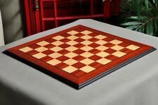 Coral Ash Root & Bird's Eye Maple Standard Traditional Chess Board - 2.25""