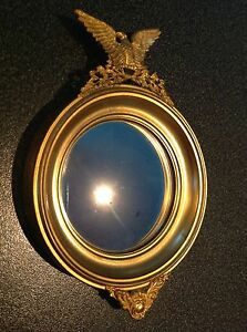 Antique Gold Gilded Metal French Decorative Mirror