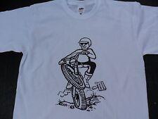 Trials Rider Cartoon T-shirts Twinshock Trials Air cooled mono shock