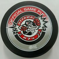 OTTAWA 67'S OHL OFFICIAL GAME PUCK  MADE IN CANADA HOCKEY PUCK