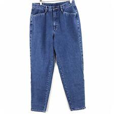 Vtg Brittania High Waisted Mom Jeans Womens Sz 12 No Back Pockets Blue Tapered