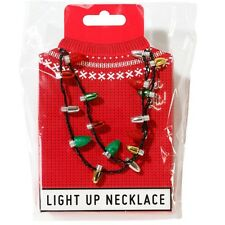 Christmas Light Up Flashing LED Party Necklace Fancy Dress Staff Fairy Jewellery