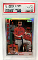 2019 Topps Chrome Mike Trout  PSA 10 GEM MINT  POP 272
