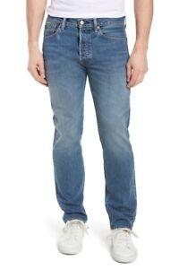Levi's 501 Men's Blue Straight Leg Button Fly Warp Stretch Jeans Size: 36  x 34