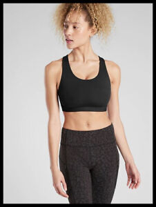 Athleta NWT Women's Ultimate Bra in SuperSonic D-DD Size Large Color Black