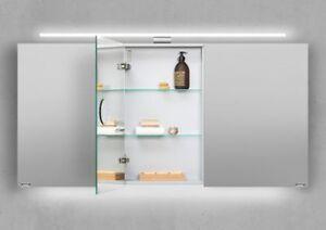 Design Spiegelschrank 140 cm LED Beleuchtung doppelseitig verspiegelt Germany