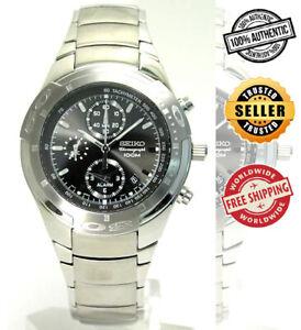 SEIKO Alarm Chronograph SNA167 SNA167P1 Men Stainless Steel Watch