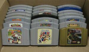 ✅ Nintendo 64 N64 Video Games Lot Mario Kart Super Smash Paper Pokemon Bundle