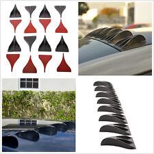 Universal 8 Pcs Auto Car SUV Roof Black Vortex Generator Shark Fins Spoiler Wing