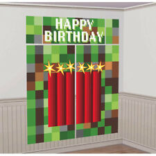 TNT PARTY WALL POSTER DECORATING KIT (5pc) ~ Birthday Supplies Plastic Green