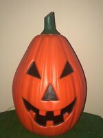 "Vintage Halloween 23"" Drainage Jack-O-Lantern Pumpkin Lighted Blow Mold Decor"