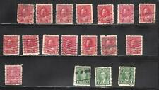 Canada # 106-231-232 RESEARCH/CANCELS/VARIATIONS,40 stamps-(Lot Canada 10)