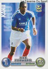 NWANKWO KANU # NIGERIA PORTSMOUTH.FC CARD PREMIER LEAGUE 2008 TOPPS