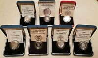 CHOICE OF UK SILVER PROOF £1 POUNDS 1983-2002 CASE & COA CHOOSE ACTUAL COIN