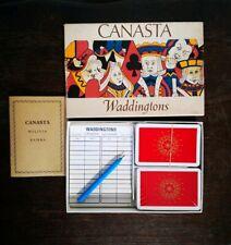 Vintage CANASTA Waddingtons Jeux De Cartes / Card Game Complet TBE