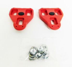 Genuine Look Delta Cleat Set w hardware PL-EC-A-01 Red 9° Float Road/Peloton New
