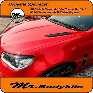 PAIR OF PLASTIC BONNET VENT 1:1 FIT HOLDEN COMMODORE VF/CAPRICE/CALAIS/CHEVY SS