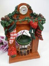 Yankee Candle Christmas Mantle Stockings Clock Poinsettia Tart Burner Warmer