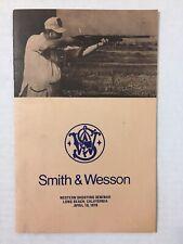 Vintage 1978 Smith & Wesson Western Shooting Seminar Program Booklet Ads Pistol