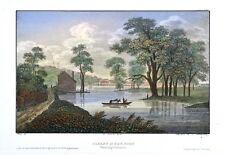 Albany in New York USA Daumerlang Original Antique Print 1845 koloriert Hudson