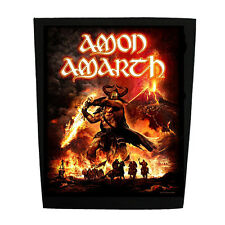 Amon Amarth Official Backpatch Surtur Rising SEW-ON BACK PATCH VIKING