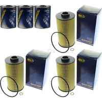 3x Original SCT Ölfilter SH 430 P + 3x SCT Motor Flush Motorspülung