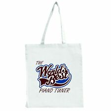 The Worlds Best Piano Tuner - Large Tote Shopping Bag