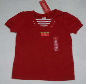 GYMBOREE GIRLS SIZE 4 SHIRT NWT HOLLAND DAYS RED TULIP FLOWERS STRIPES TOP