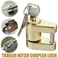 Trailer Hitch Coupler Lock +2 Keys For Towing Caravan/Trailer Security 56io S1G4