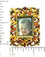 Mini Rectangle Picture Frame 025GD Austrian Crystals Collectible Desktop Decor