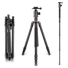 "Neewer Portable Carbon Fiber 66"" Camera Tripod Monopod With 360 Ball Head"